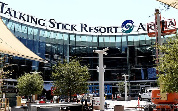 Although Talking Stick Resort Arena is under construction now, it will be ready if Phoenix lands the Women's Final Four in 2026. An enhanced arena was part of the local committee's selling point. - PHOTO BY KEVIN HURLEY/CRONKITE NEWS