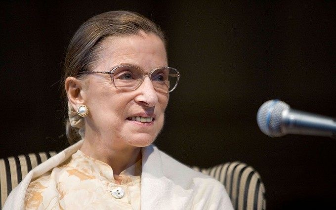 The late Supreme Court Justice Ruth Bader Ginsburg in a 2005 photo from an appearance at Wake Forest University. Ginsburg died Friday at age 87 and the fight over when and how to replace her has already started. - PHOTO BY KEN BENNETT, WAKE FOREST SCHOOL OF LAW/CREATIVE COMMONS