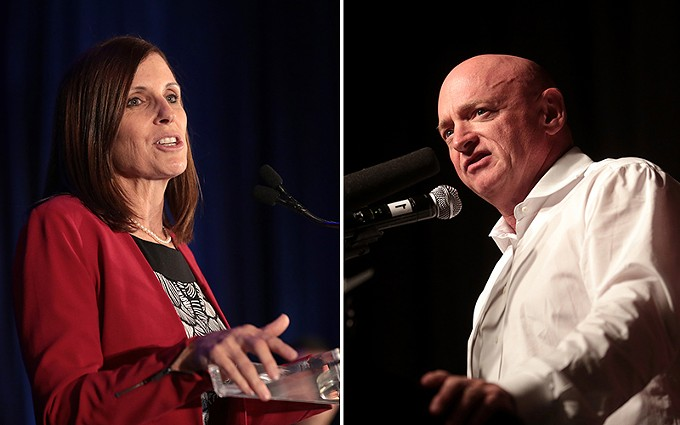 Sen. Martha McSally, R-Arizona, officially entered the race to hold on to her seat this fall. She raised $12.6 million last year for the race, but likely Democratic challenger Mark Kelly had raised $20.2 million in the same period. - (PHOTOS BY GAGE SKIDMORE/CREATIVE COMMONS)