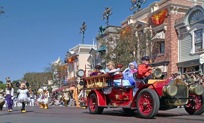Before the COVID-19 pandemic, Main Street in Disneyland featured many daily parades. This could change whenever Disneyland reopens under health guidelines from the state. - PHOTO BY BERNARD SPRAGG, CREATIVE COMMONS