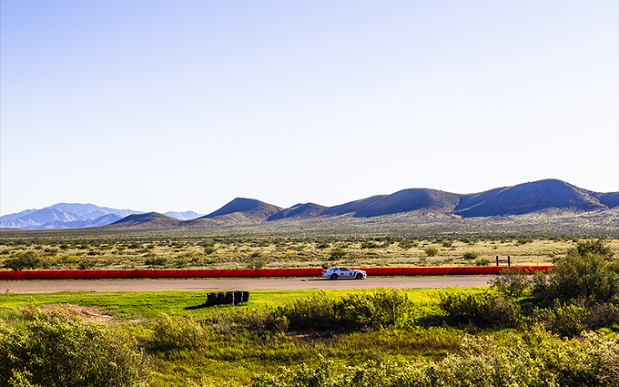 The backdrop of mountains provides a picturesque view of Inde Motorsports Ranch in Willcox. - PHOTO COURTESY INDE MOTORSPORTS RANCH