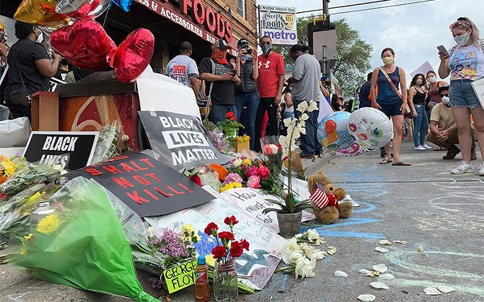 A memorial to George Floyd outside the Minneapolis store where he died May 25. The deaths of Black Americans at the hands of police have prompted calls for greater equity and inclusion in corporate America, and some businesses are examining health disparities. - LORIE SHAULL/CREATIVE COMMONS