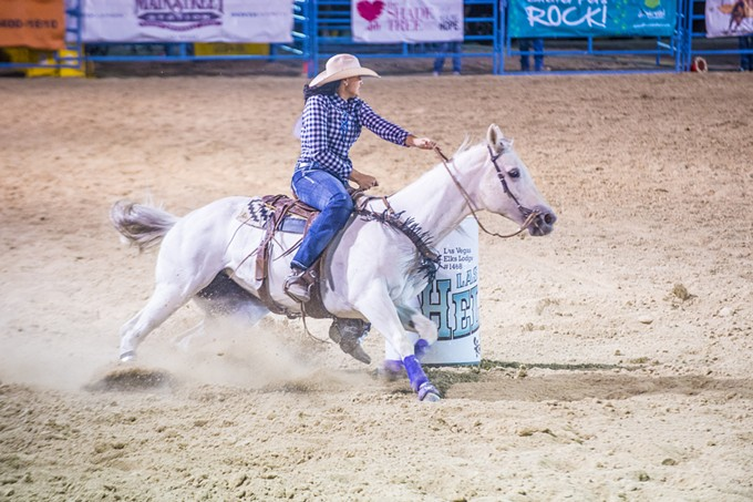 Barrel racing at the Tucson Rodeo before COVID-19 wiped out nearly all social events in 2020—and now the start of 2021.