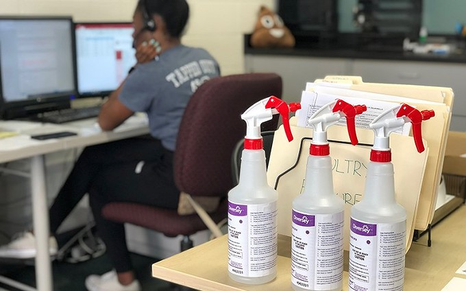 Nmesomachi Sampson works for SAFER. For 15 years, the SAFER team at the University of Arizona tracked foodborne illnesses. Now they\u2019re tackling a pandemic that has killed 1.5 million people worldwide. - COURTESY OF KYLIE BOYD
