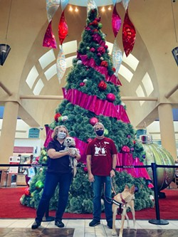 Humane Society's Susan Hendrickson (left) and John Steffens at Park Place Mall. - BRIAN SMITH