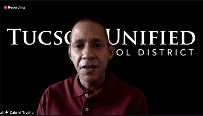 TUSD Superintendent Dr. Gabriel Trujillo speaks at a Jan. 8 virtual press conference. - TUCSON UNIFIED SCHOOL DISTRICT