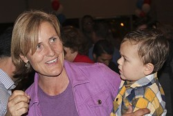 Karin Uhlich, celebrating a victory in a previous council race. - JIM NINTZEL