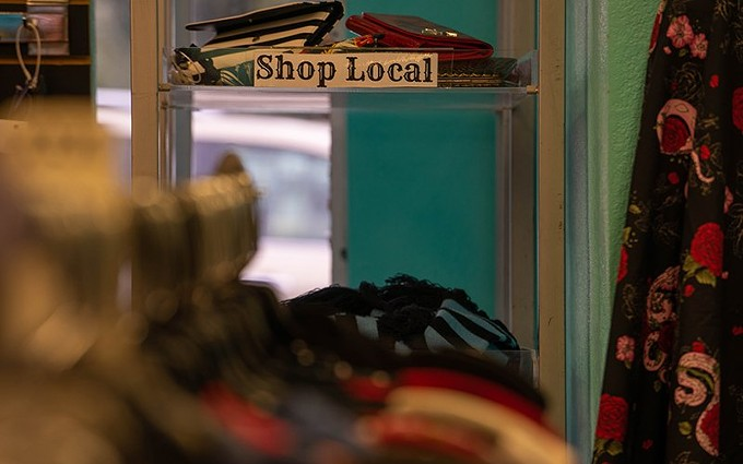 Rocket A Go-Go in Tempe offers customers punk, rockabilly and retro clothes, and has been serving the community for 9 years. - SOFIA FUENTES/CRONKITE NEWS