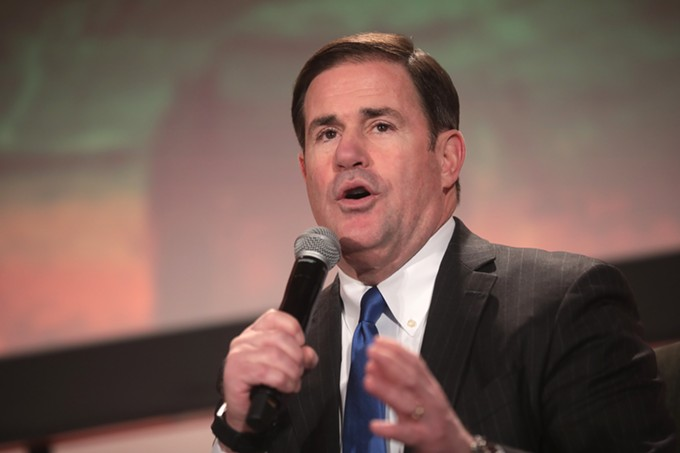 Without consulting local officials, Gov. Doug Ducey told FEMA that Pima County didn't want FEMA's help in setting up a new vaccination center. - GAGE SKIDMORE