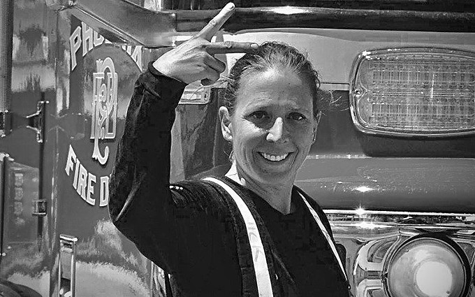 Nicole Minnick, a captain medic with the Phoenix Fire Department, is one of about 80 women in a department of about 1,550 firefighters. Little is known about the health of female firefighters because there are so few of them, but a new University of Arizona study aims to remedy that. - COURTESY NICOLE MINNICK