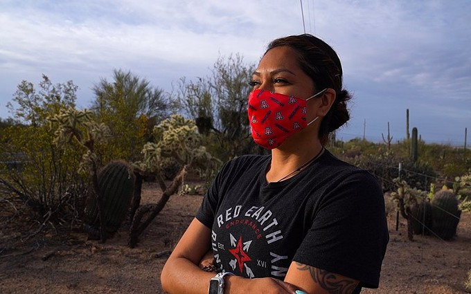 Marlinda Bedonie has found a passion for running and representing her Indigenous culture on social media, highlighting her half-marathons, 10Ks and other races. - IKE EVERARD/CRONKITE NEWS