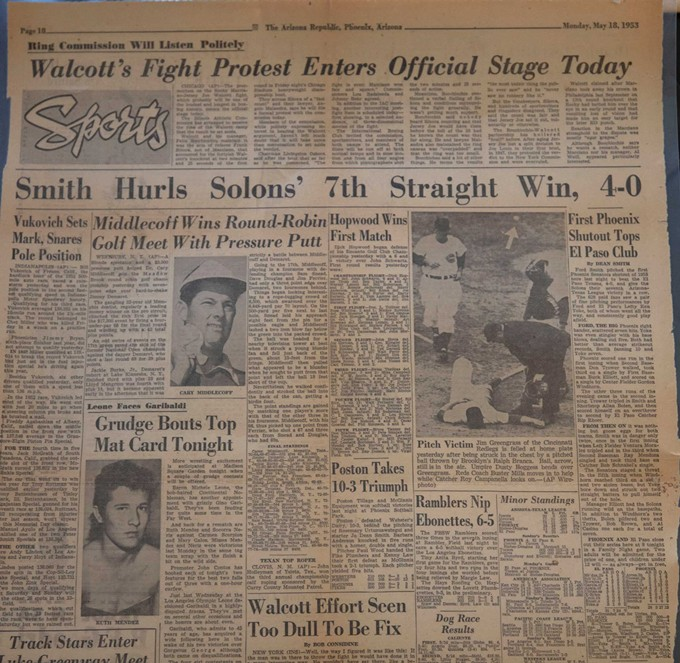 A written history of Ford Smith's life can be hard to find, but this Phoenix Gazette newspaper from 1953 provides some clues. - ABBY SHARPE/CRONKITE NEWS