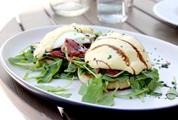 The Godfather Benedict adds Italian flavor to the classic brunch dish. - HEATHER HOCH