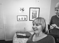 Corinne and Katherine Schram at home. - BRIAN SMITH