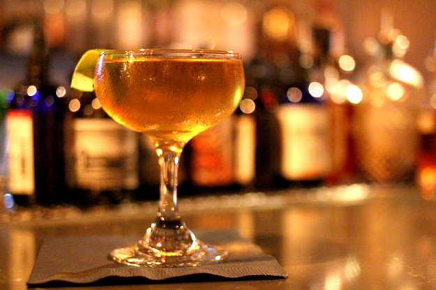 Mezcal and Irish whiskey play nice with sherry in Tough Luck's San Patricio. - HEATHER HOCH