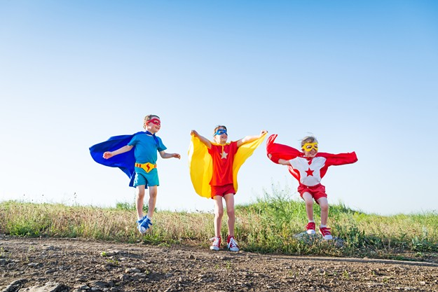 I'm not saying there are going to be superhero costumes available, but I am saying you should bring any used superhero outfits your kids have outgrown. Capes are always fun. - BIGSTOCK