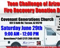 Teen Challenge of Arizona Fire Recovery Donation Drive