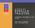 An Evening with Rebecca Traister
