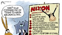 Claytoon of the Day: Nixon Derangement Syndrome