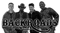Little House of Funk and Backroads Country Band coming playing Gaslight Music Hall drive-in show