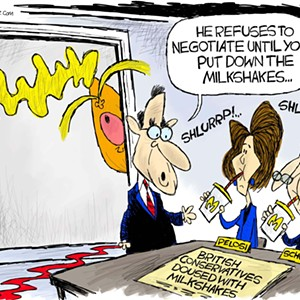Claytoon of the Day: Shake It For Trump