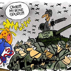 Claytoon of the Day: Trump Has An Owie