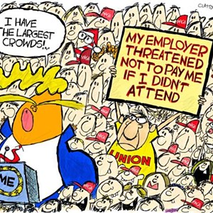 Claytoon of the Day: Bigly Crowds