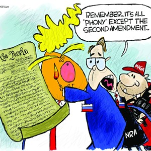 Claytoon of the Day: Phony Constitution