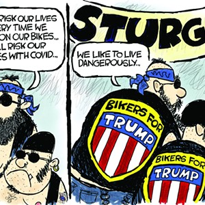 Claytoonz: Bikers For Trump Virus