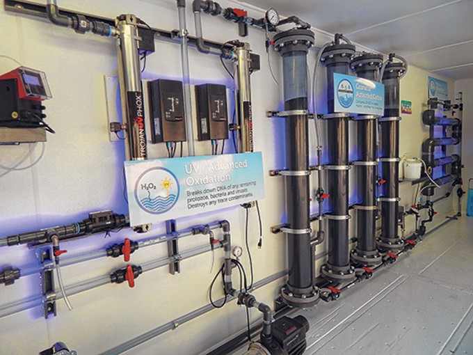 Tucson Water's mobile purification system, on the back of a truck, processed the reclaimed water to make it the foundation of Clear Water Pils, a Bohemian-style Pilsner.