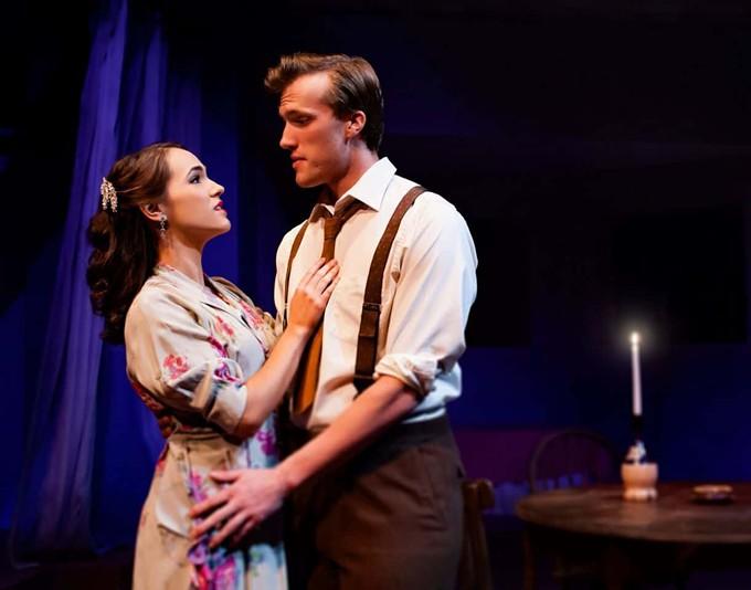 Blanche (Marissa Munter) and Mitch (Zach Zupke) after a date in Streetcar Named Desire