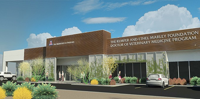 While the University of Arizona already teaches an undergraduate veterinary program, the new Oro Valley location hill host the veterinary medicine program, more closely akin to a post-graduate medical school.
