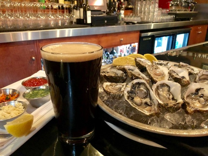 Any fan of oysters is guaranteed to enjoy a pint (or three) of  the King Oyster Stout, only available at Kingfisher Bar and Grill while the kegs last.