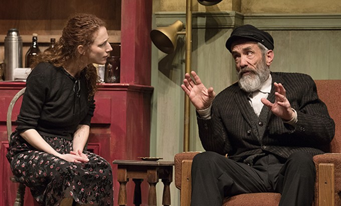 Cassandra Bissell and John Hutton in Arizona Theatre Company's Outside Mullingar.
