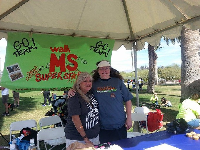 Carol Hunter and Debbie Sheehan participate in the MS Walk every year to raise money to find a cure.