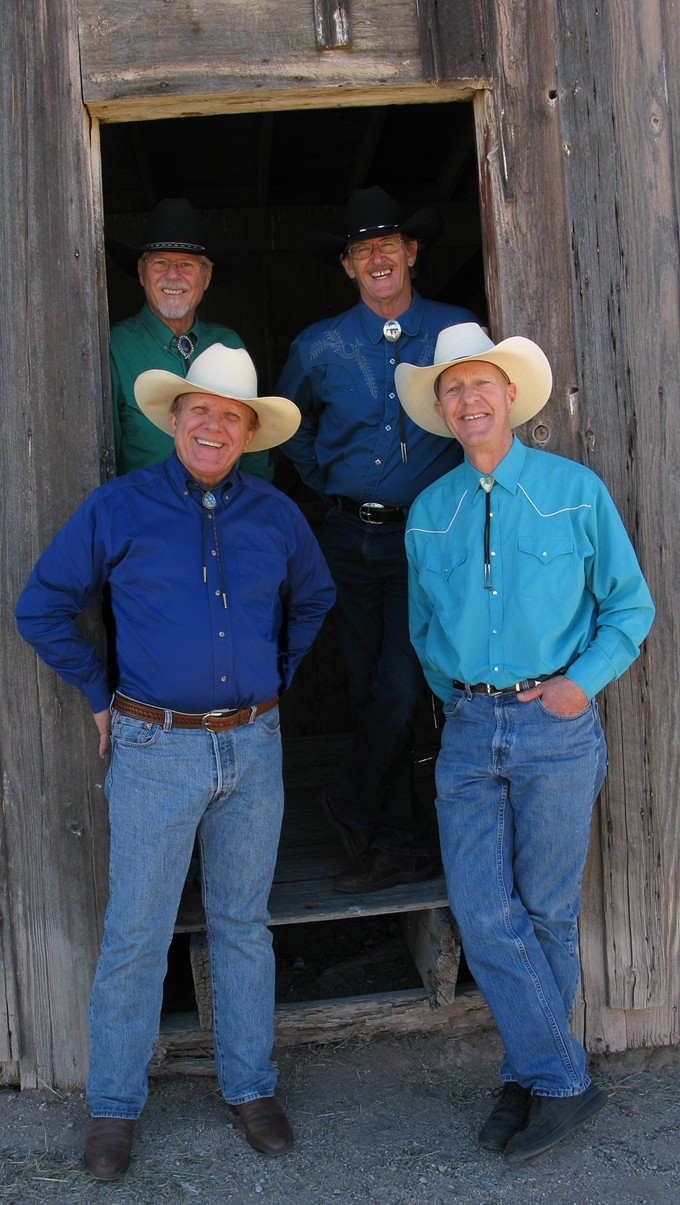 Cowboy up: Bill Ganz Western Band will play for Ballet Tucson this weekend. Clockwise from top left: Bill Ronstadt, Rich Brennion, Ralph Gilmore and band leader Bill Ganz.