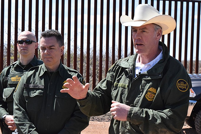 "Interior Secretary Ryan Zinke: ""Clearly, border protection is mine and the president's priority. Clearly, we're supportive of a wall."""