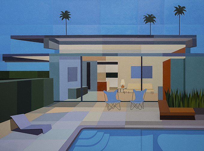 """Wexler Steel House IV,"" by Andy Burgess, oil on canvas 2015"
