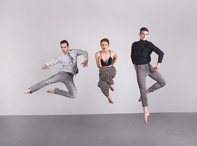 "Artifact dancers Samuel Kraus, Allie Knuth and Nathanael Myers try their hand at choreography in this weekend's ""New Moves"" concert."