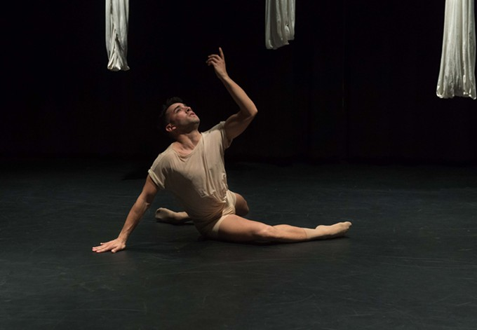 "Mark Cuestas dancing in Mirela Roza's ""Tell the Wolf I'm Home"" in Journeys concert this weekend"