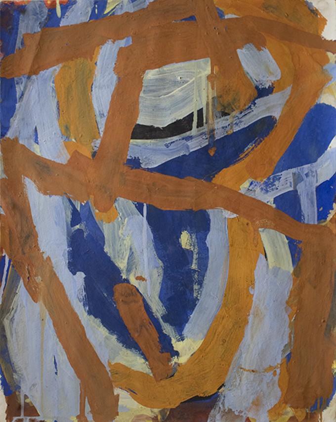 Blue Zig Zag Painting In Chicago Art Institute