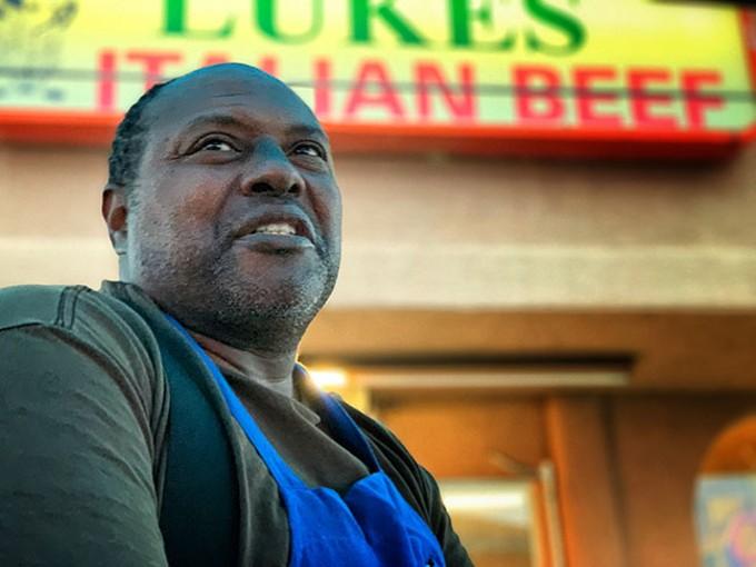 Louie hanging at Luke's.