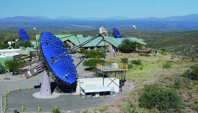 The VERITAS array in Amado, Arizona.