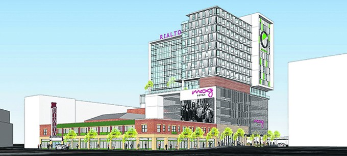 The $88 million proposal would have included two hotels and a Rialto Theatre makeover.