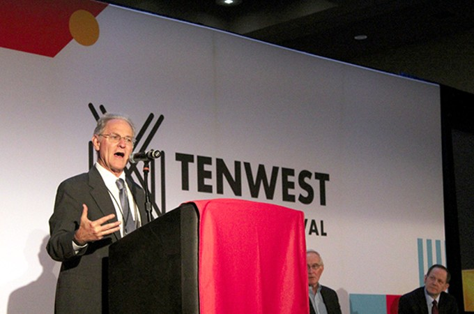 Tucson Mayor Jonathan Rothschild organized the opening event at this year's TENWEST Festival, a symposium about city revitalization.