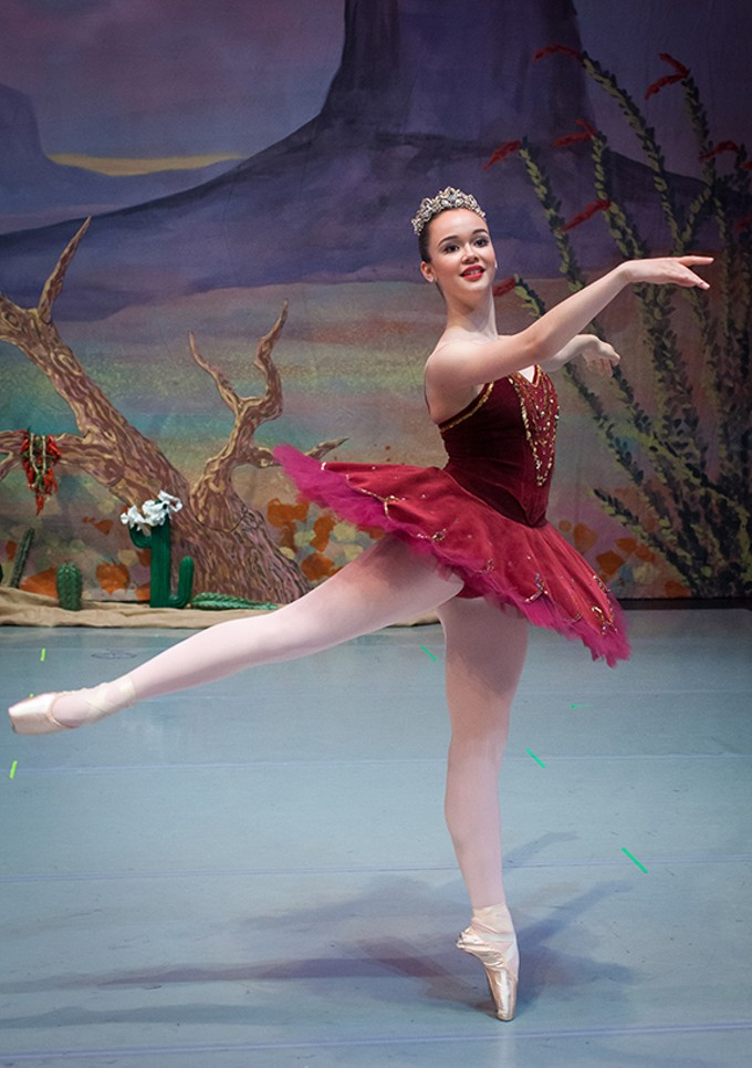 Maya Hughes dances the Prickly Pear Fairy this weekend in Tucson Regional Ballet's Southwest Nutcracker