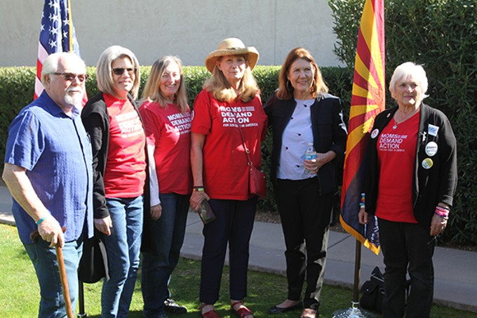 "U.S. Rep. Ann Kirkpatrick (second from right): ""I think two of the major things I've learned a lot about is addiction and how prevalent it is in the country."""