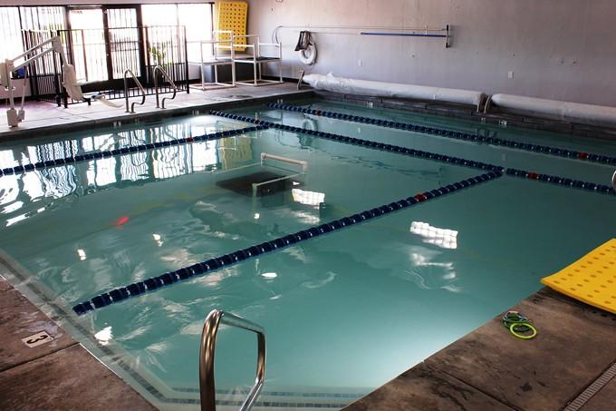 Saguaro Aquatics indoor, heated pool is open for classes.
