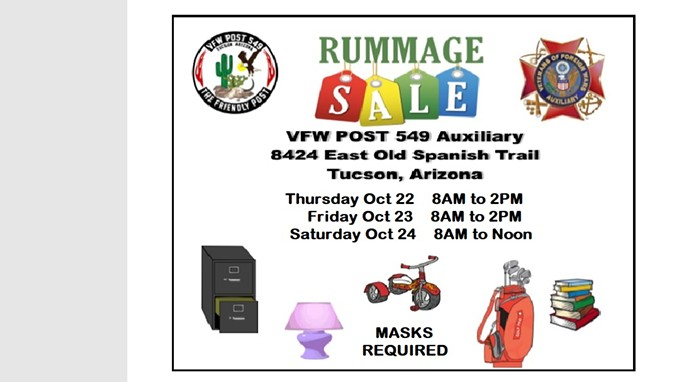 VFW Post 549 Auxiliary Rummage Sale
