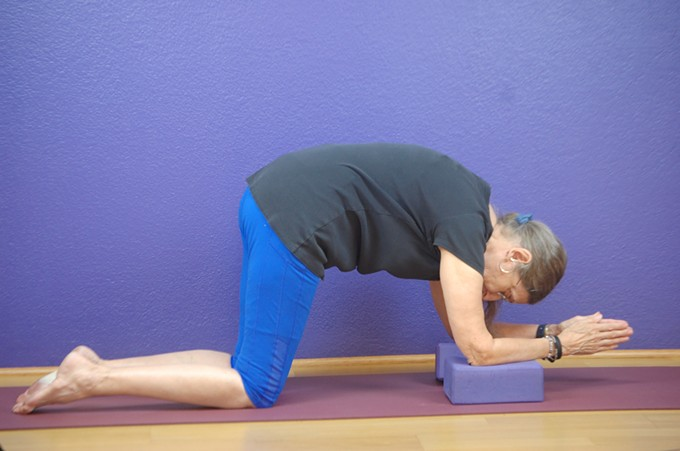 Gentle poses designed to support and strengthen the back are the hallmark of this weekly class.